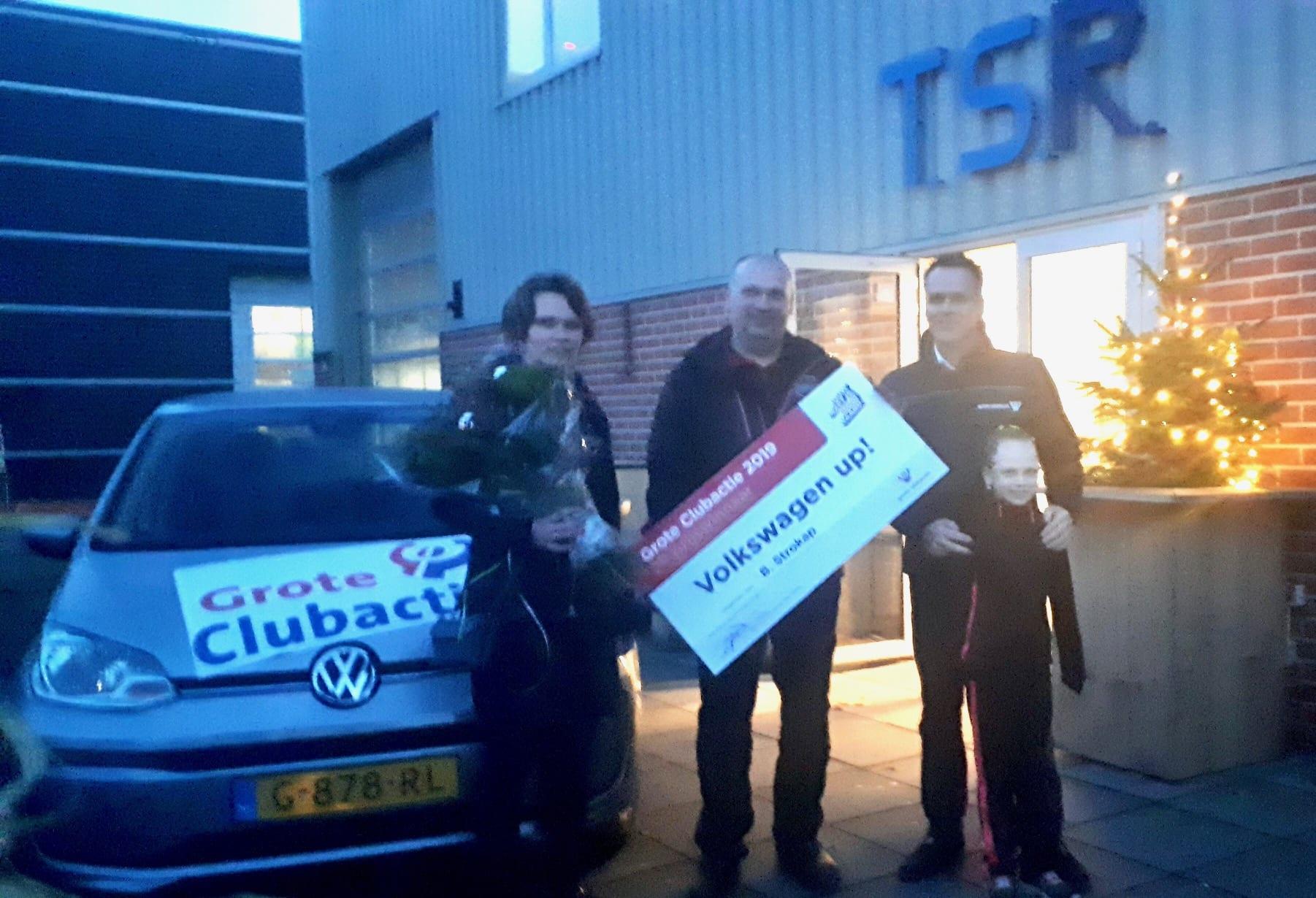 2e prijs winnaar Volskwagen Up