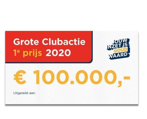 Hoofdprijs Grote Clubactie Loterij