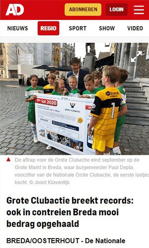 Algemeen Dagblad Grote Clubactie