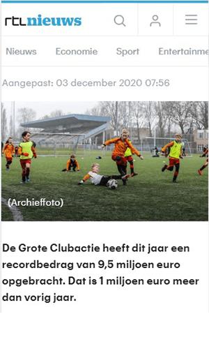 RTL nieuws Grote Clubactie